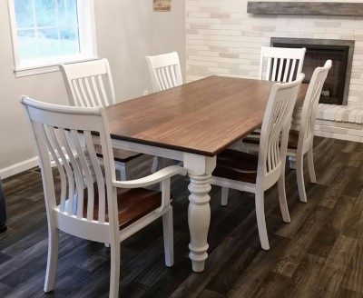 7 foot table with Chrisabella Chairs