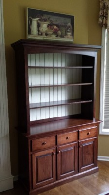 Custom Brown Maple Hutch