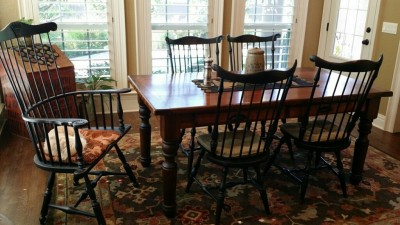 Lawrence Crouse Tall Fan Back and Shell Arm Chair