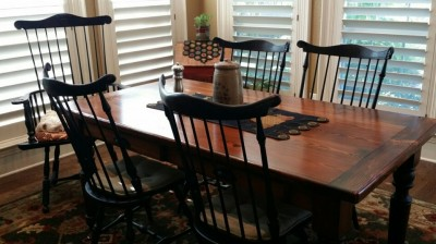 Lawrence Crouse Tall Fan Back Chairs