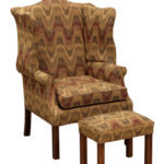Country Classic Wing with North Hampton Footstool