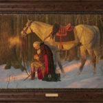 Prayer at Valley Forge Brown Frame