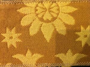 Snowflake Ecru Mustard