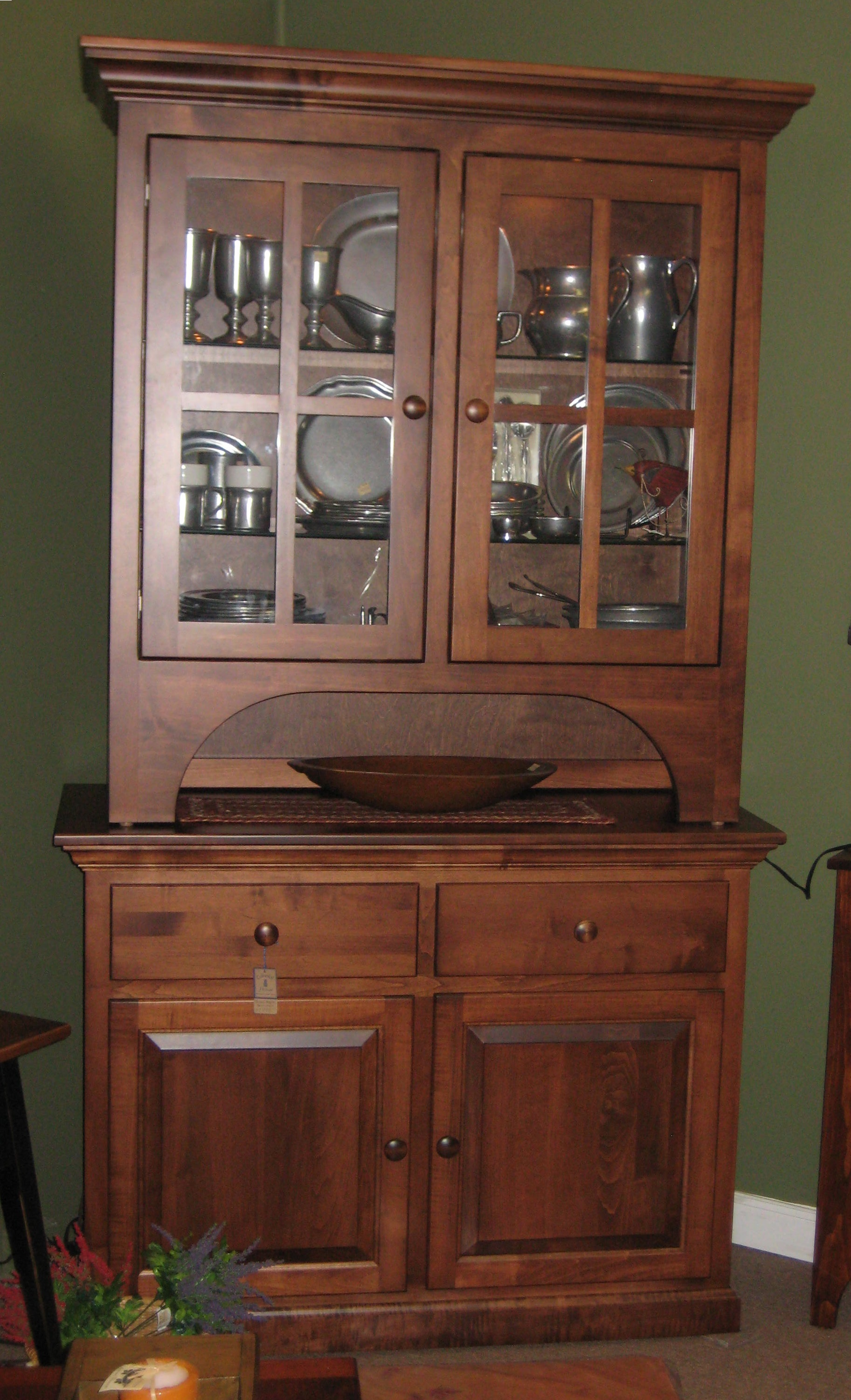 Large Brown Maple Hutch Colonial Housecolonial House