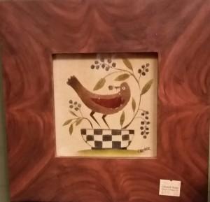 Bird in Checkered Basket