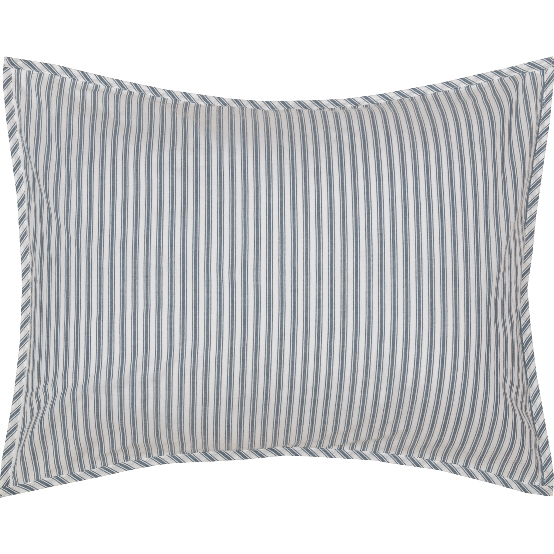 Sawyer Mill Blue Ticking Stripe Standard Sham 21x27