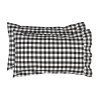 Annie Buffalo Black Check Standard Pillow Case Set of 2 21x30