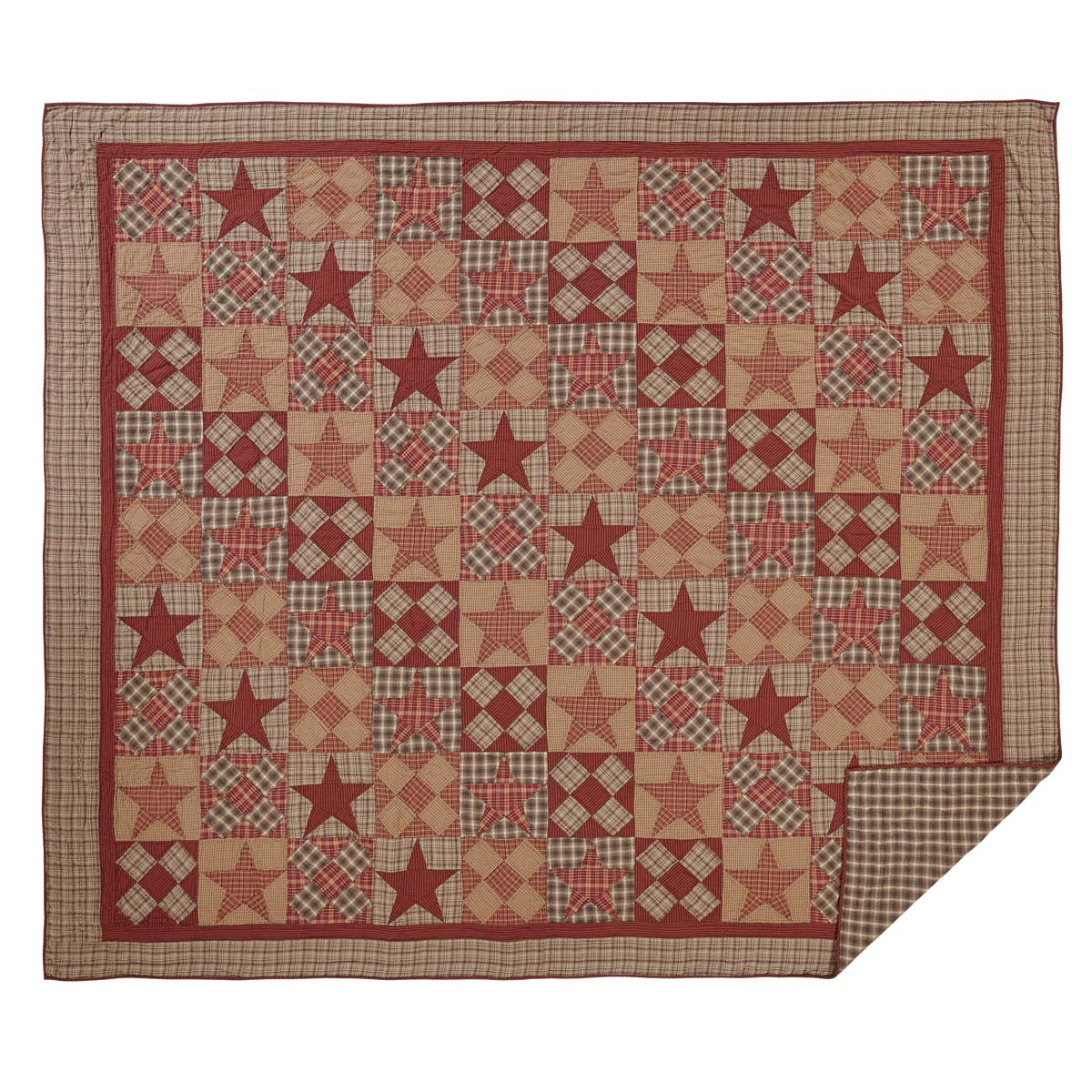 Dawson Star Luxury King Quilt 120Wx105L