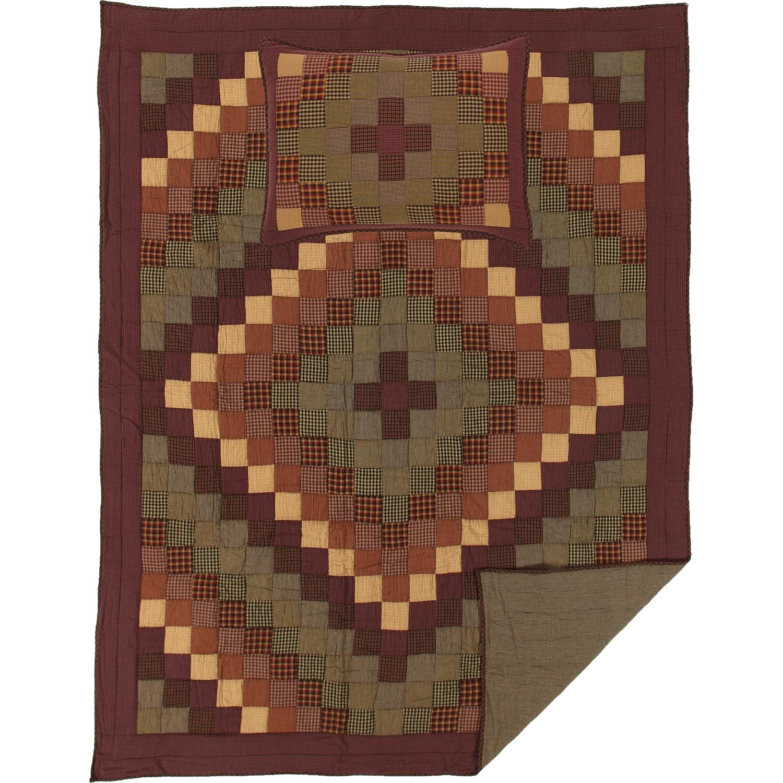 Heritage Farms Twin Quilt Set; 1-Quilt 68Wx86L w/1 Sham 21x27