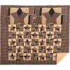 Bingham Star King Quilt Set; 1-Quilt 110Wx97L w/2 Shams 21x37