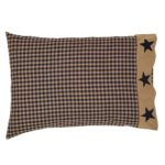 Teton Star Standard Pillow Case Applique Star Border Set of 2 21x30