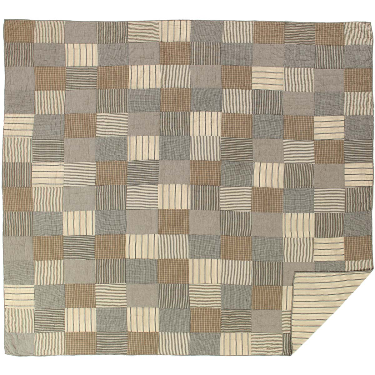 Sawyer Mill Charcoal King Quilt 105Wx95L