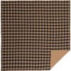 Black Check Queen Quilt Coverlet 90Wx90L