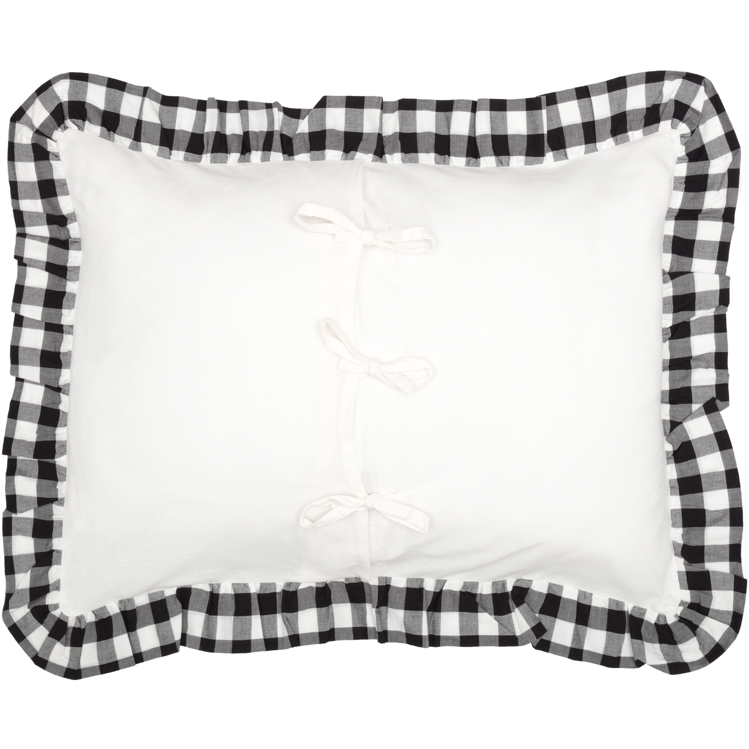 Annie Buffalo Black Check Ruffled Standard Sham 21x27