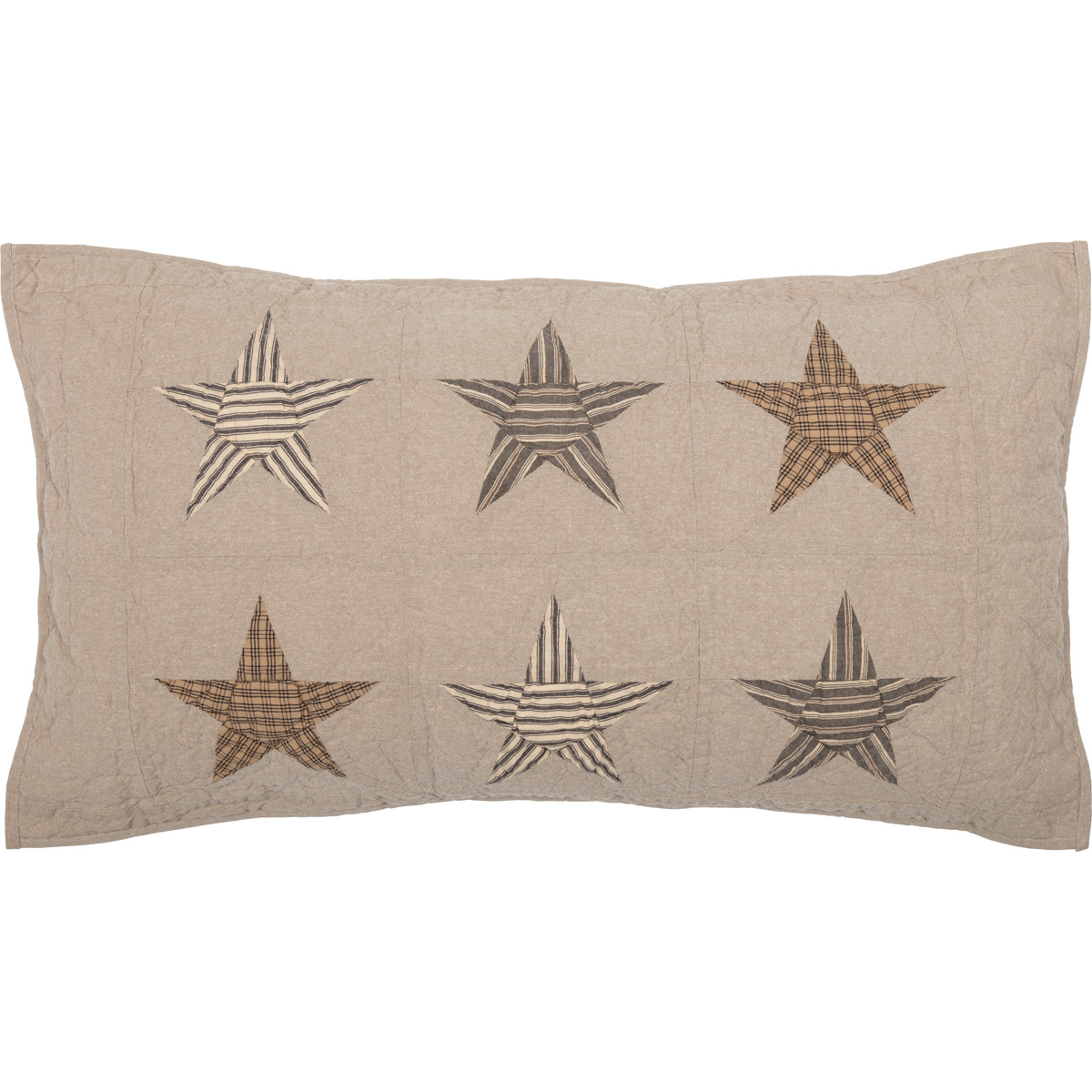 Sawyer Mill Star Charcoal King Sham 21x37