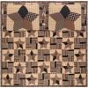 Bingham Star Queen Quilt Set; 1-Quilt 94Wx94L w/2 Shams 21x27