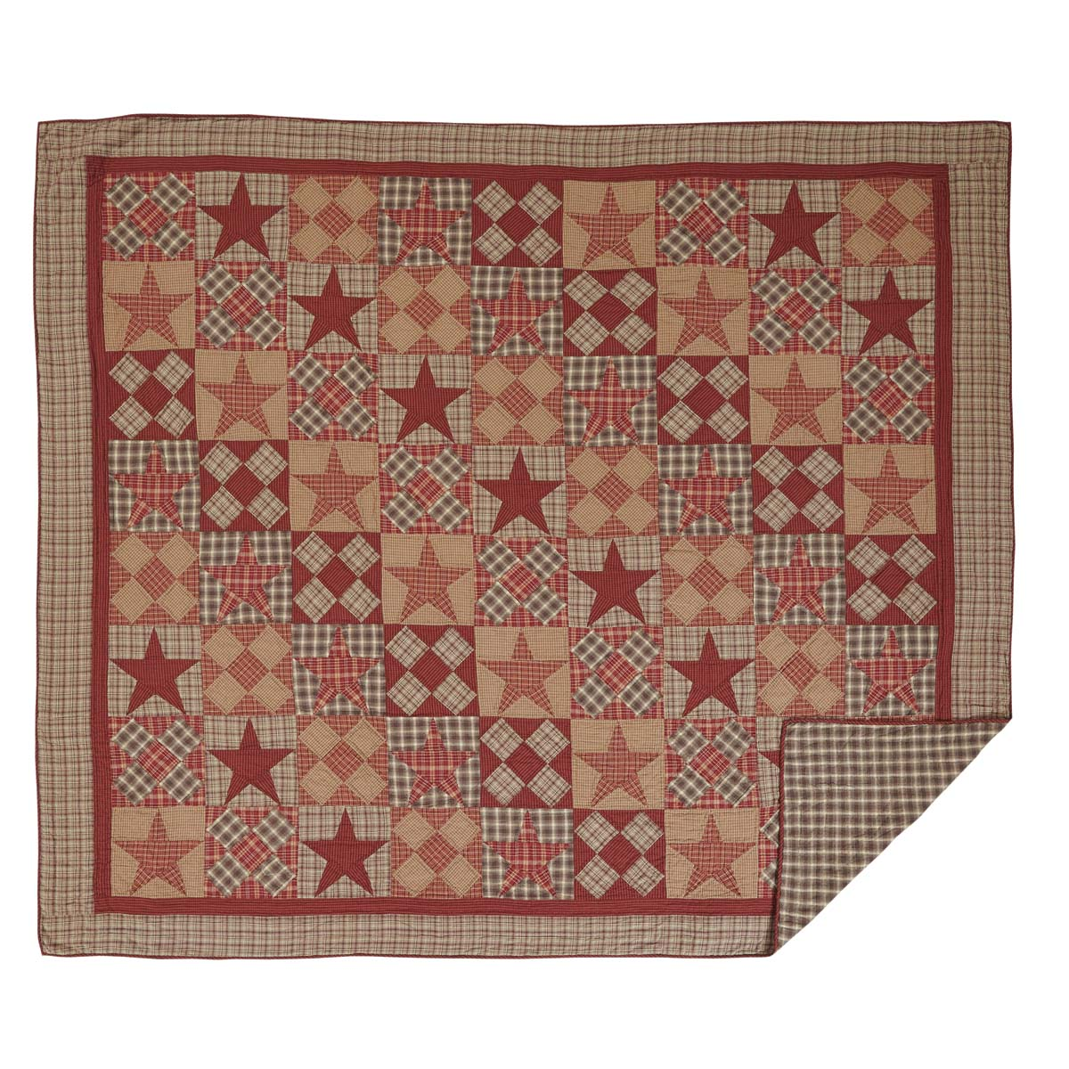 Dawson Star King Quilt 110Wx97L