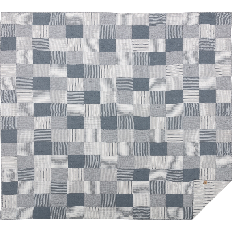 Sawyer Mill Blue California King Quilt 130Wx115L
