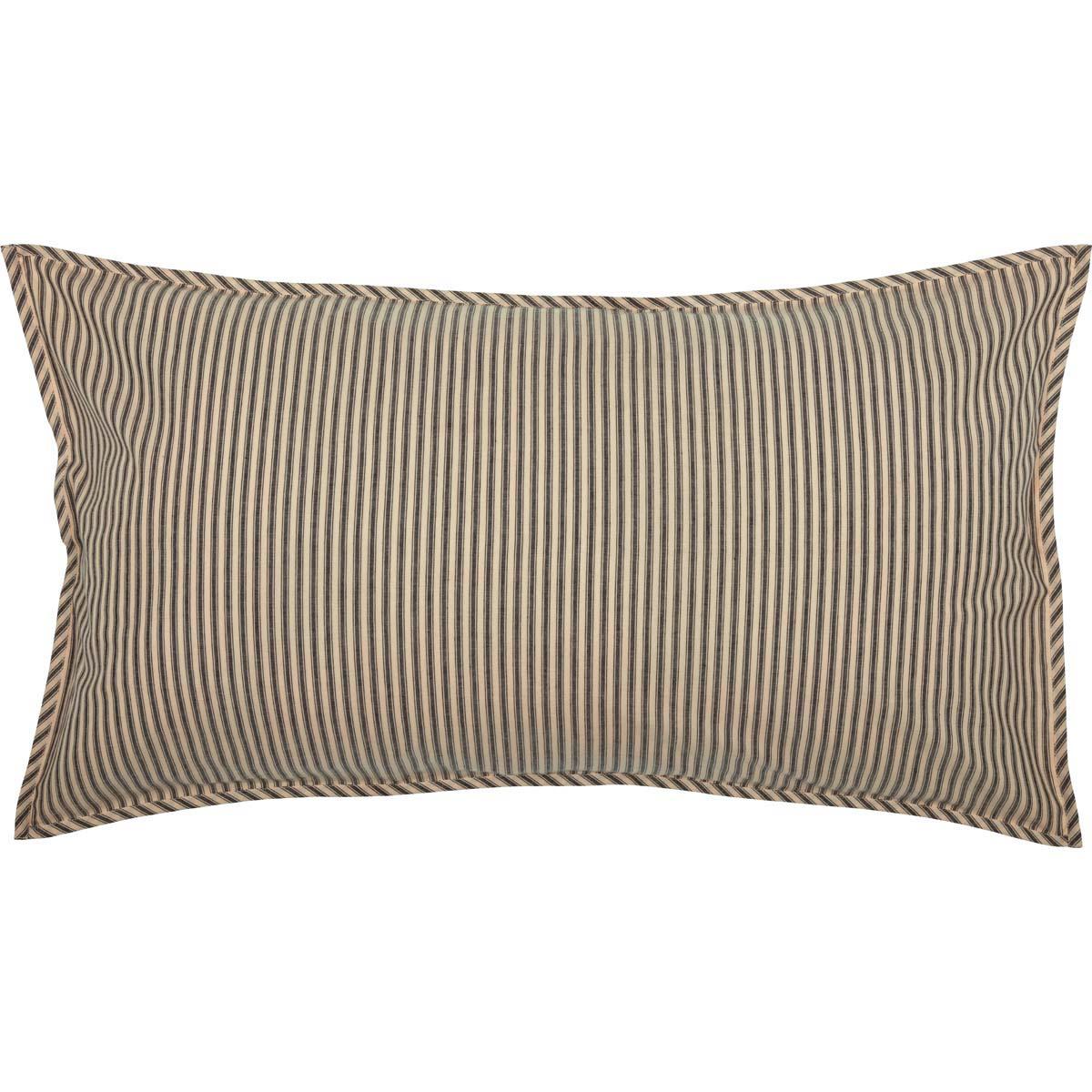 Sawyer Mill Charcoal Ticking Stripe King Sham 21x37