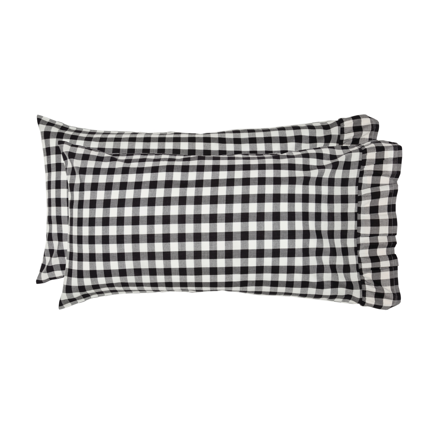 Annie Buffalo Black Check King Pillow Case Set of 2 21x40