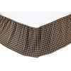 Black Check Twin Bed Skirt 39x76x16