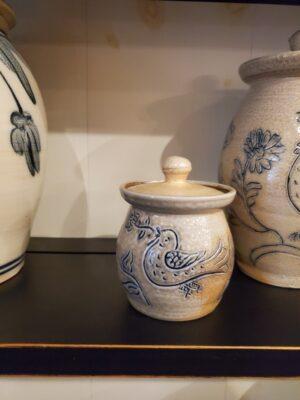 Salt Glazed pot with lid