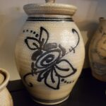 Salt Glazed Jar with lid