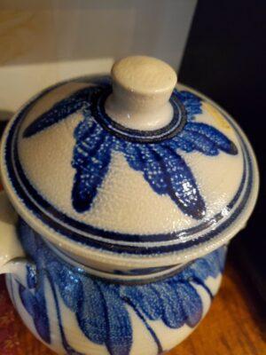 Salt Glazed jar with lid