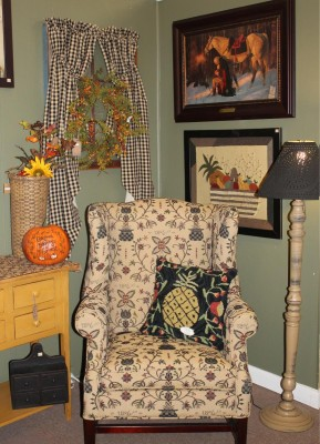 Chair and prints